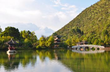 Old Town of Lijiang by Frederik Dawson