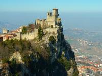 San Marino and Mount Titano by Clyde
