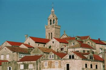 The historic town of Korcula (T) by Hubert Scharnagl