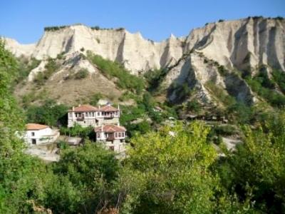The town of Melnik and the Rozhen Monastery (T) by Jarek Pokrzywnicki