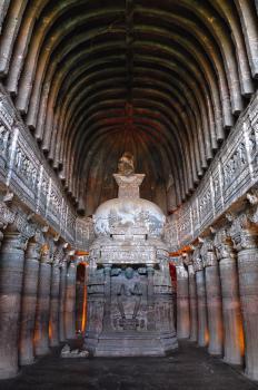 Ajanta Caves by Frederik Dawson