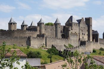 Fortified City of Carcassonne by Hubert Scharnagl