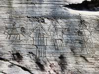 Rock Drawings in Valcamonica by Clyde