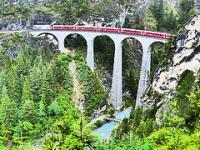 Rhaetian Railway by Clyde