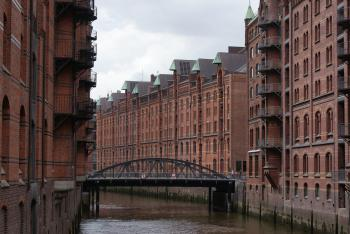 Speicherstadt and Kontorhaus District by Hubert Scharnagl