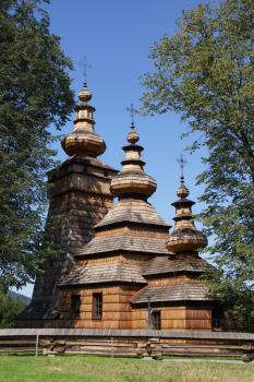 Wooden Tserkvas of the Carpathian Region by Hubert Scharnagl