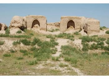 The Site of Ancient Town of Pyanjekent (T) by Michael Novins