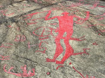 Rock Carvings in Tanum by Clyde