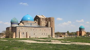 Mausoleum of Khoja Ahmed Yasawi by Juha Sjoeblom