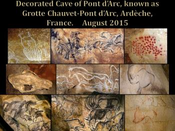 Decorated cave of Pont d'Arc by Thibault Magnien