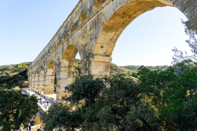Pont du Gard by Michael Turtle