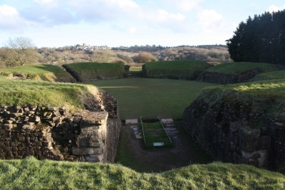 Caerleon legionary fortress (T) by Jakob Frenzel