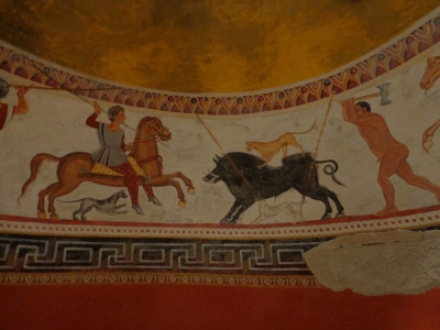 Thracian Tomb with Wall Paintings beside Alexandrovo village (T) by Argo