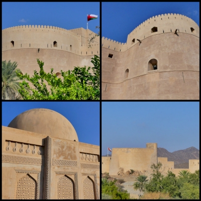 The forts of Rostaq and al-Hazm (T)