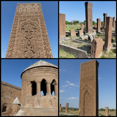 The Tombstones of Ahlat the Urartian and Ottoman citadel (T) by Clyde