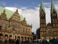 Town Hall and Roland, Bremen by Frederik Dawson
