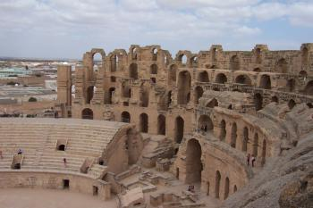 Amphitheater of El Jem by Ian Cade